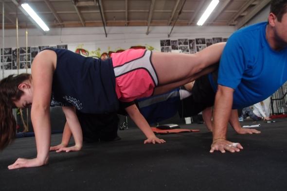 team push ups