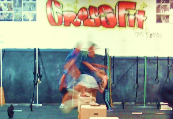 7:30 pm beginner class 1st to try out our new 20/24/30 Jump boxes. Built by Tim's dad.