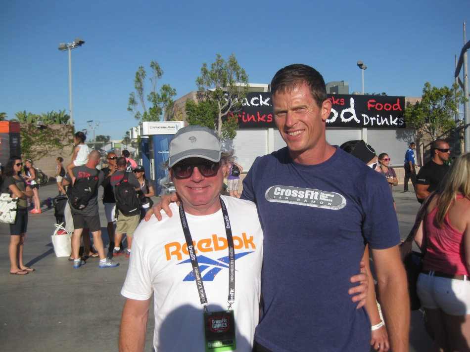 Tim with Greg Glassman the founder of CrossFit at the 2012 Games.